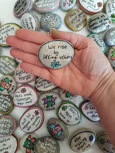 Custom/Personalized Inspirational Message pebbles. ********************************** This price is for 1 pebble only !! ********************************** A perfect little attention present for your love ones. Insted of just saying your love you can show it by these qute