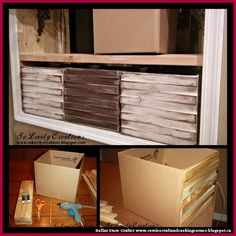 Dollar Store Crafter: Turn Cardboard Boxes And Cedar Shims Into DIY Distressed Wooden Storage Boxes
