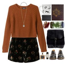"""""""witchy business"""" by constellvtion ❤ liked on Polyvore featuring Monki, Forever 21, Steve Mono, Alöe, Van Cleef & Arpels, Dr. Martens, Shinola, Aspinal of London and modern"""