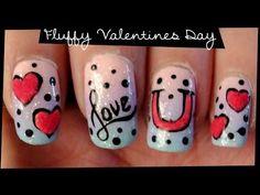 Easy Valentine's Day Nail Art   Diseño de Uñas San Valentín ♥ Дизайн Ногтей Ко Дню Влюбленных - YouTube