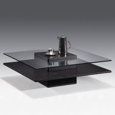 giomani designs adelphi smoke grey glass coffee table. a modern