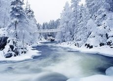 ice nature snow cold finland rivers 1600x1200 wallpaper