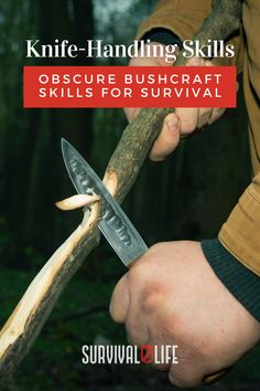 Knife handling and other bushcraft skills to survive in the wilderness. #knifehandling #bushcraftskills #bushcraft #survivalskills #survival #survivallife Survival Life, Survival Skills, Bushcraft Skills, Knife Handles, Wilderness
