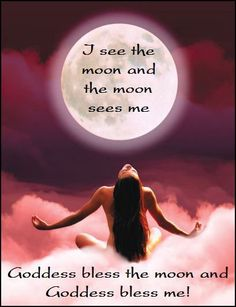I see the moon and the moon sees me.