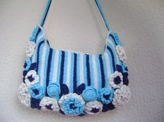 Crochet tote bag made with handmade cotton... by Vestberet on Etsy, $47.00