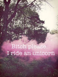 I ride a unicorn
