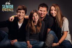 family or siblings pose