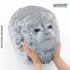 Rainlin Chubby Blob Seal Pillow Stuffed Cotton Plush Animal Toy Cute Ocean Pillow Pets (A-Gray, in)) Cute Stuffed Animals, Cute Baby Animals, Party Animals, Chat 3d, Cute Seals, Diy Gifts For Friends, Cute Pillows, Cute Plush, Animal Pillows