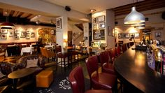 Check out our warm and welcoming interior of Clayhills - gastropub with a historical name in Tallinn's Old Town. Restaurant Design, Old Town, Great Places, Interior Styling, Contemporary, Table, Bar Stuff, Lounges, Furniture