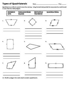 Taxonomy of quadrilaterals lower forms are special cases o types of quadrilaterals fandeluxe Image collections