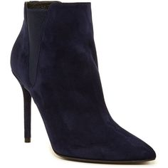 Stuart Weitzman Apogee Bootie ($250) ❤ liked on Polyvore featuring shoes, boots, ankle booties, ankle boots, nicsue, high heel ankle booties, pointed toe bootie, pointy toe booties and stuart weitzman bootie