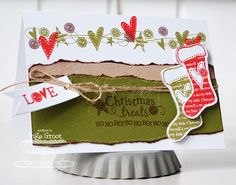 Patterned Paper - Papercrafts by Inge: November MFTeasers, Stitched Stockings and Darling Dots