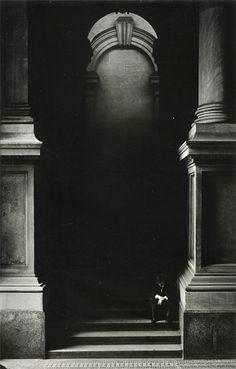 George Krause, Untitled (Man on Stairs), 1960s