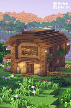 Exterior Design, Interior And Exterior, Casa Medieval Minecraft, Minecraft Survival, Minecraft Tutorial, Stables, Barn, House Styles, Simple