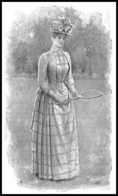 Here's What Victorian Women Wore To Play Tennis Victorian Women, Victorian Era, Victorian Dresses, Edwardian Fashion, Vintage Fashion, 1890s Fashion, Tennis Fashion, Tennis Dress, Fashion Plates
