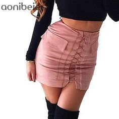 Autumn Lace-up Pencil Skirt Short Skirts 703553720