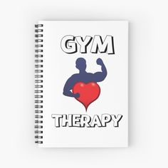'Gym Therapy & Graphic Design With Big Heart' Spiral Notebook by Spiral, Therapy, Notebook, Gym, Graphic Design, Art Prints, Printed, Heart, Awesome