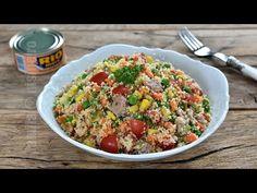 De mult nu mai facusem salata cu ton si couscous. Am descoperit couscous-ul in Maroc, acum destul de multi ani, cand am fost prima data in vizita la soacra Couscous, Fried Rice, Cooking Recipes, Tasty, Favorite Recipes, Vegetables, Ethnic Recipes, Pineapple, Morocco