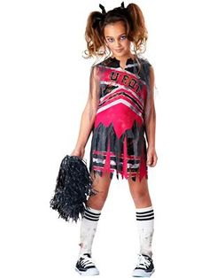 Spiritless Cheerleader Zombie Kids Costume