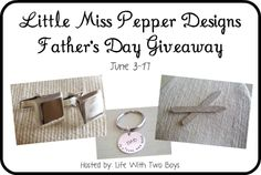 Since Fathers Day is right around the corner, YOUR BLOG NAME has decided to team up with Life With Two Boys and several other awesome bloggers for a fantastic Fathers Day giveaway! Thanks to Little Miss Pepper Designs, one lucky guy is going to win a Fathers Day prize pack that includes