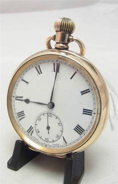 A Gold 10ct Plated Open Faced Pocket Watch Ref Lock366