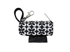 Doggie Walk Bags Round Duffel Flower Print Bag, Black/White * Additional details @