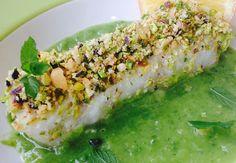 Filetto di merluzzo in crosta con crema di zucchine e menta   Food Loft - Il sito web ufficiale di Simone Rugiati