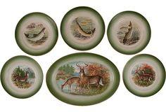 Buffalo Pottery Game Dishes, S/6 on OneKingsLane.com