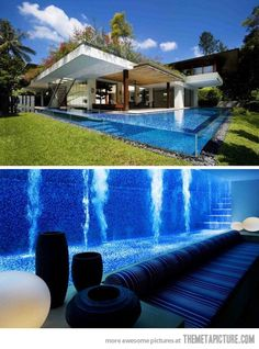 Awesome basement pool
