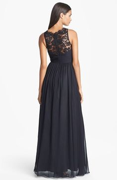 44c5ad81ac691 Aidan Mattox Embellished Lace & Silk Chiffon Gown (Online Only) | Nordstrom