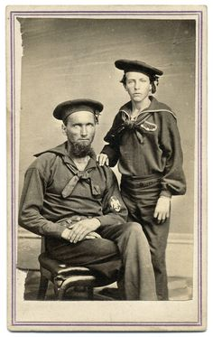 Dexter Palmer & the Powder Boy on the Boat American Veterans, American Civil War, Vintage Sailor, Merchant Navy, Civil War Photos, Military Veterans, Historical Pictures, Man Photo, Military History