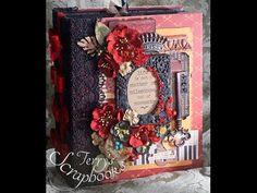 BoBunny Heritage Scrapbook Mini photo album - YouTube Mini Photo Albums, Mini Album Tutorial, Mini Scrapbook Albums, Altered Books, Diy Projects To Try, Mini Books, Happy Planner, Mini Scrapbooks, Crafting