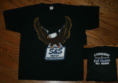 Harley Davidson 1987 Eagle STROKERS S&S Products Performance T-Shirt Men's Large #Sportswear #GraphicTee