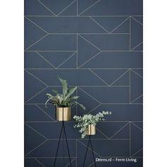 Navy Geometric Removable Wallpaper/Self Adhesive/Regular  Wallpaper/Temporary Wallpaper/ Navy Geometric Wallpaper A010