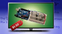 Arduino fans, this project turns TVs on when you want them off. It makes a perfect April Fools' Day joke or gag gift--or, in the spirit of Evil Week, use it anytime of year to drive people crazy. You can hide it in something inconspicuous, and assuming you already have an Arduino and tools, it costs less than $1.50 to make.
