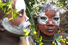 Africa a Surma brother and sister, Omo Valley, Ethiopia | © Jeremy Curl, via flickr