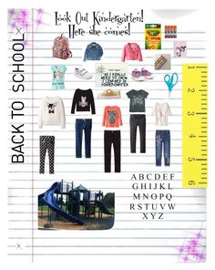 """""""Back to School Shopping for My Girl."""" by aurorasblueheaven ❤ liked on Polyvore featuring Treasure & Bond, Converse, George, The Children's Place, Stride Rite, Beautees, Levi's, Joe's Jeans, Skechers and JWorld"""