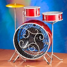 The Drum Set Table Top Fan Perfect For Music Everywhere Great Gift