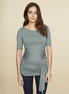 The Ruched Wrap Maternity T Shirt - isabella oliver