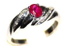 18K White Gold Twist Design Diamond and Ruby Ring [RS0111] BKGjewelry http://www.amazon.com/dp/B00BRJ3122/ref=cm_sw_r_pi_dp_qmtkwb06VHGP6