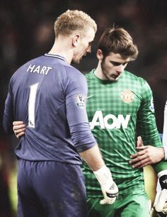 Goalkeeper respect. David De Gea and Joe Hart.