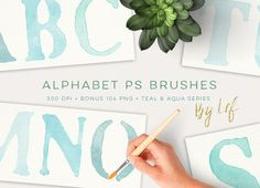 Photoshop Brushes Painted Alphabet by By Lef on @creativework247