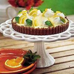 Double Citrus Tart....gingerbread crust makes this perfect for entertaining.  One of my favorite dessert recipes.  Tip: use fresh squeezed lemon and orange juice