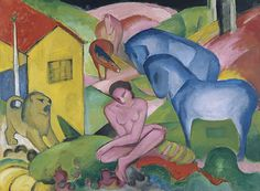 Franz Marc: El sueño, 1912 (Der Blaue Reiter) | Museo Thyssen Bornemisza