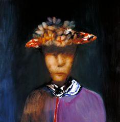 Sir Sidney Nolan 'Woman in a Hat', © The estate of Sir Sidney Nolan. All Rights Reserved 2010 / Bridgeman Art Library Australian Painting, Australian Artists, Roland Leighton, Sidney Nolan, Spring Art, Heart Art, Headdress, Female Art, Hats For Women