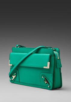 REBECCA MINKOFF Metal Corner Clutch in Bright Green Bubble at Revolve Clothing - Free Shipping!