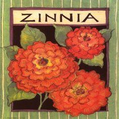 susan winget prints | Zinnia Seed Packet - posters, geclee prints, art prints, poster ...