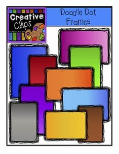 FREEBIE! Doodle Dot Frames {Creative Clips Digital Clipart} .....Follow for free 'too-neat-not-to-keep' teaching tools  other fun stuff!