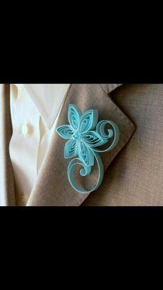 Tiffany blue flower pin