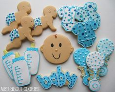 baby boy cookies for my babyshower